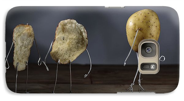 Simple Things - Potatoes Galaxy Case by Nailia Schwarz