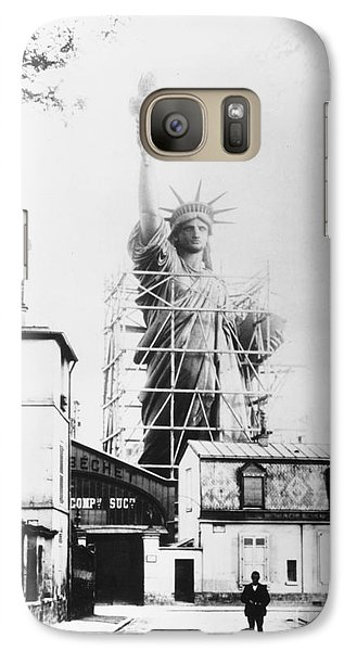 Statue Of Liberty, Paris Galaxy S7 Case by Granger