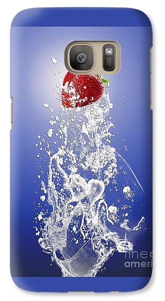 Strawberry Splash Galaxy Case by Marvin Blaine
