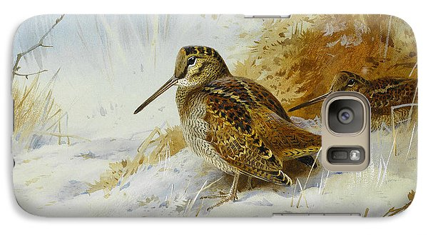 Winter Woodcock Galaxy Case by Archibald Thorburn