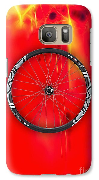 Carbon Fiber Bicycle Wheel Collection Galaxy Case by Marvin Blaine