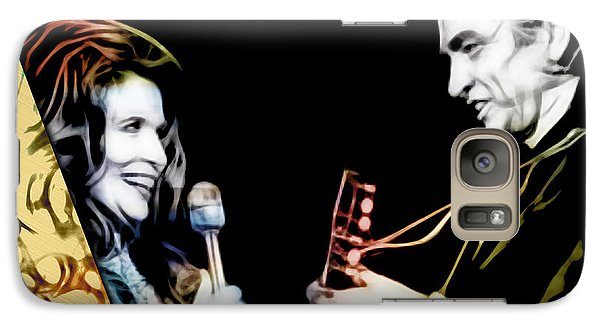June Carter And Johnny Cash Collection Galaxy Case by Marvin Blaine