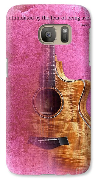 Taylor Inspirational Quote, Acoustic Guitar Original Abstract Art Galaxy Case by Pablo Franchi
