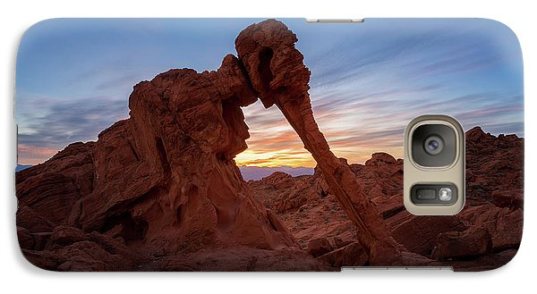 Valley Of Fire S.p. Galaxy Case by Jon Manjeot