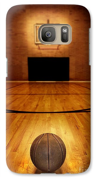 Basketball And Basketball Court Galaxy S7 Case by Lane Erickson