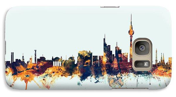 Berlin Germany Skyline Galaxy Case by Michael Tompsett