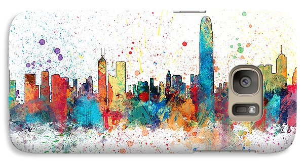 Hong Kong Skyline Galaxy Case by Michael Tompsett