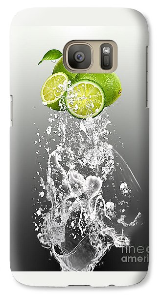 Lime Splash Galaxy Case by Marvin Blaine