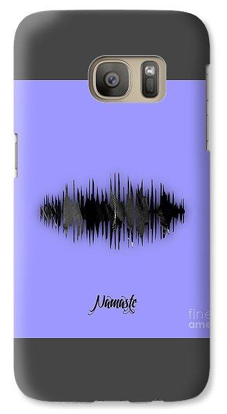 Namaste Spoken Soundwave Galaxy Case by Marvin Blaine