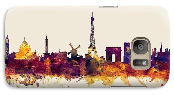 Paris France Skyline Galaxy S7 Case by Michael Tompsett