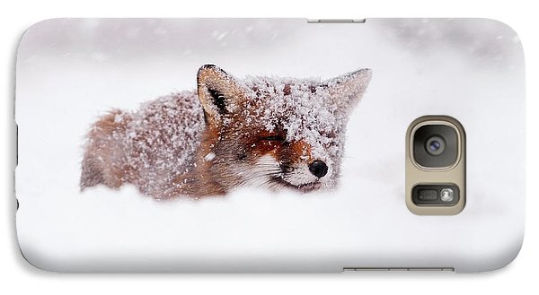 50 Shades Of White And A Touch Of Red Galaxy S7 Case by Roeselien Raimond