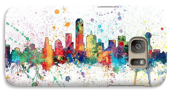 Dallas Texas Skyline Galaxy S7 Case by Michael Tompsett