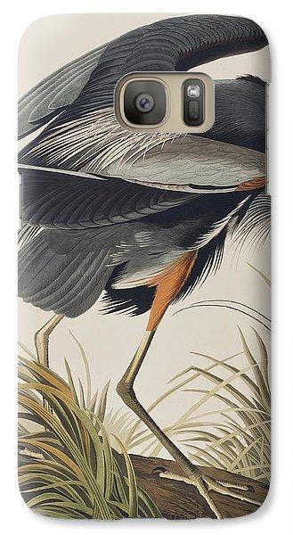 Great Blue Heron Galaxy S7 Case by John James Audubon
