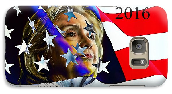 Hillary Clinton 2016 Collection Galaxy Case by Marvin Blaine