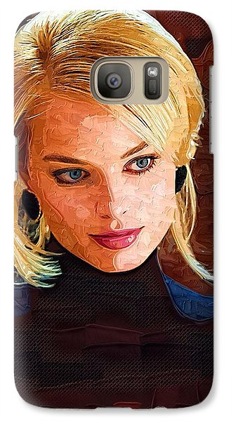 Margot Robbie Painting Galaxy Case by Best Actors
