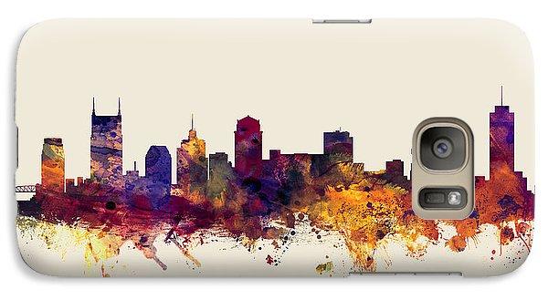 Nashville Tennessee Skyline Galaxy Case by Michael Tompsett