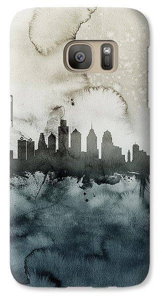 Philadelphia Pennsylvania Skyline Galaxy S7 Case by Michael Tompsett