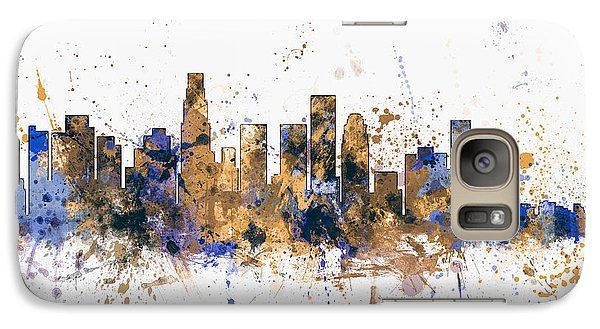 Los Angeles California Skyline Galaxy Case by Michael Tompsett