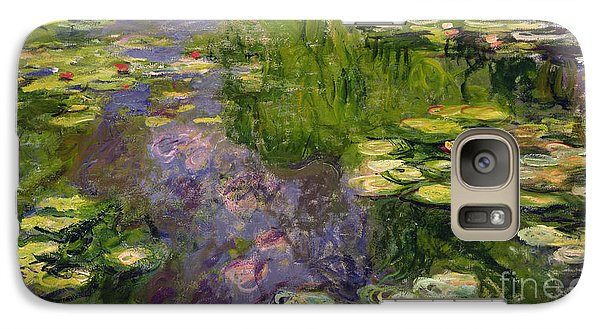 Waterlilies Galaxy Case by Claude Monet