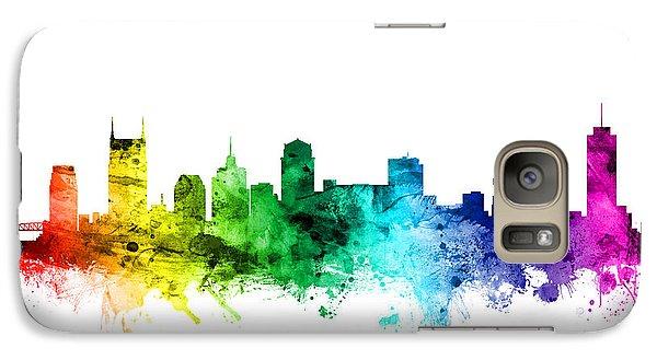 Nashville Tennessee Skyline Galaxy S7 Case by Michael Tompsett
