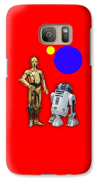 Star Wars C3po And R2d2 Collection Galaxy Case by Marvin Blaine