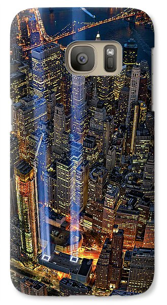 911 Nyc Tribute In Light Galaxy Case by Susan Candelario