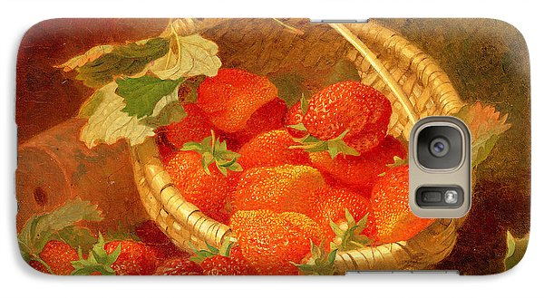 A Basket Of Strawberries On A Stone Ledge Galaxy S7 Case by Eloise Harriet Stannard