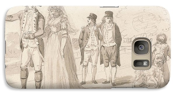 A Family In Hyde Park Galaxy Case by Paul Sandby