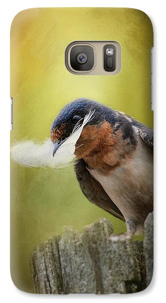 A Feather For Her Nest Galaxy S7 Case by Jai Johnson