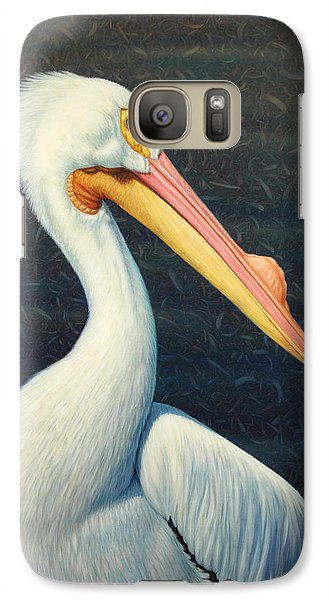 A Great White American Pelican Galaxy S7 Case by James W Johnson