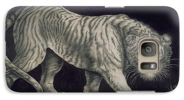 A Prowling Tiger Galaxy S7 Case by Elizabeth Pringle
