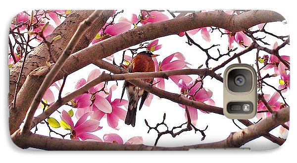 A Songbird In The Magnolia Tree - Square Galaxy Case by Rona Black
