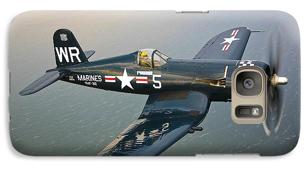 A Vought F4u-5 Corsair In Flight Galaxy Case by Scott Germain