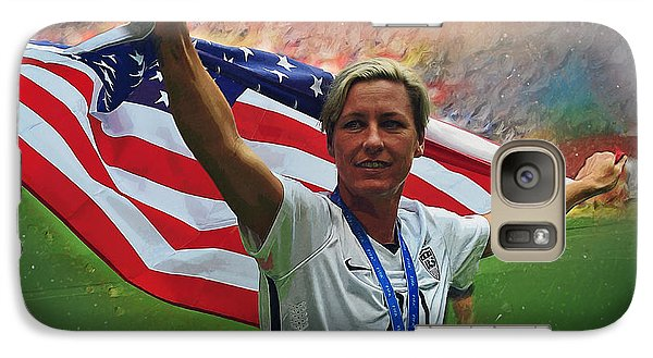 Abby Wambach Us Soccer Galaxy Case by Semih Yurdabak