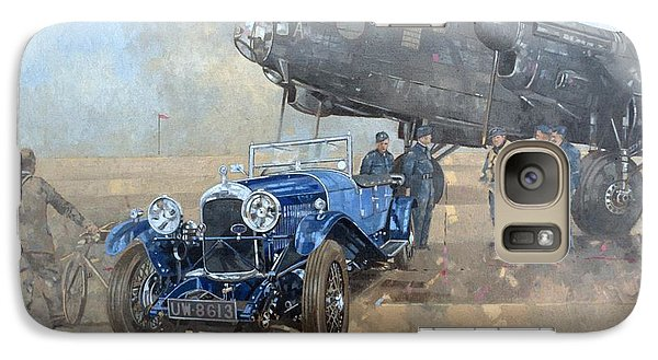 Able Mable And The Blue Lagonda  Galaxy S7 Case by Peter Miller