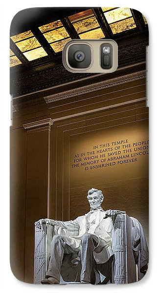 Abraham Lincoln Galaxy Case by Andrew Soundarajan