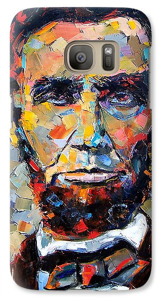 Abraham Lincoln Portrait Galaxy Case by Debra Hurd