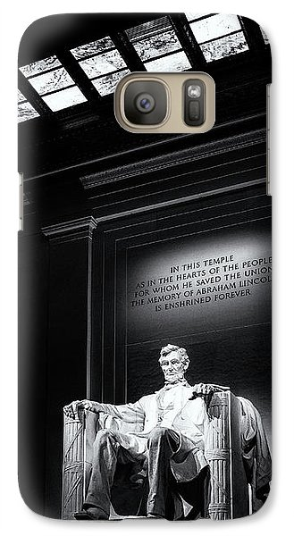Abraham Lincoln Seated Galaxy S7 Case by Andrew Soundarajan