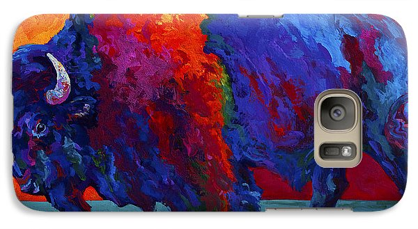 Abstract Bison Galaxy Case by Marion Rose
