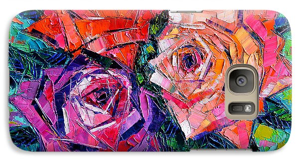Abstract Bouquet Of Roses Galaxy S7 Case by Mona Edulesco
