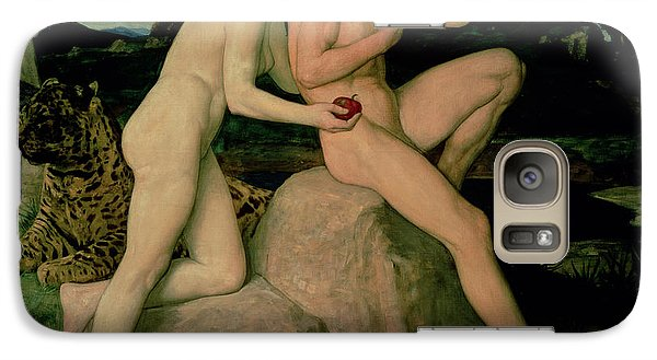Adam And Eve  Galaxy Case by William Strang