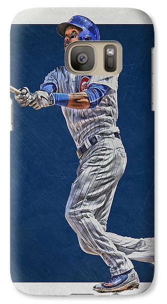 Addison Russell Chicago Cubs Art Galaxy S7 Case by Joe Hamilton