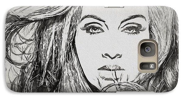 Adele Charcoal Sketch Galaxy Case by Dan Sproul