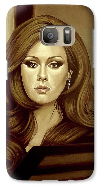 Adele Gold Galaxy S7 Case by Paul Meijering