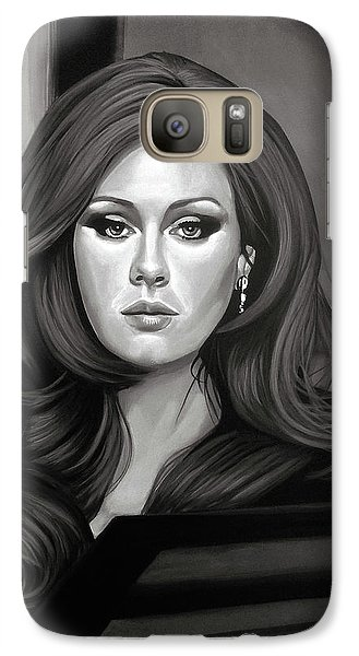 Adele Mixed Media Galaxy S7 Case by Paul Meijering