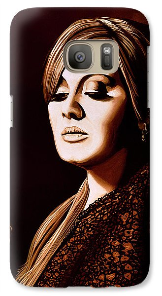 Adele Skyfall Gold Galaxy S7 Case by Paul Meijering