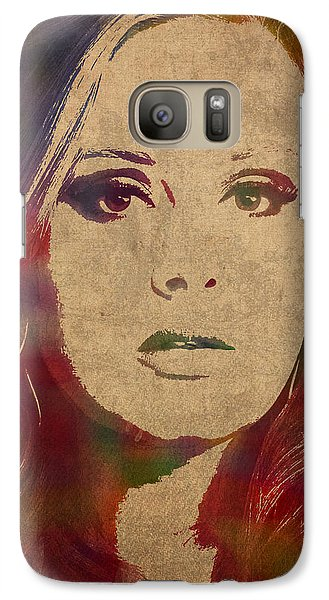 Adele Watercolor Portrait Galaxy S7 Case by Design Turnpike