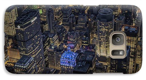 Aerial New York City Skyscrapers Galaxy Case by Susan Candelario