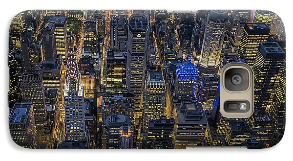 Aerial View Midtown Manhattan Nyc Galaxy Case by Susan Candelario