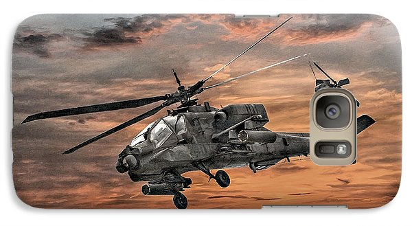 Ah-64 Apache Attack Helicopter Galaxy S7 Case by Randy Steele